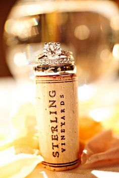 love this picture with the wine bottle cork from the reception toast!