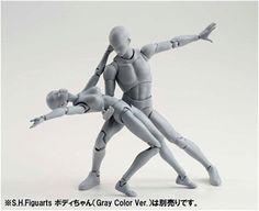 SHFiguarts BODY KUN / BODY CHAN Grey Color Ver. PVC Action Figure Collectible Model Toy