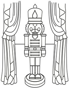 Nutcracker Coloring Page – once they have finished their SQUILT page, then they can color this one the back while […] Make your world more colorful with free printable coloring pages from italks. Our free coloring pages for adults and kids. Free Christmas Coloring Pages, Free Printable Coloring Pages, Coloring Book Pages, Coloring Pages For Kids, Coloring Sheets, Free Printables, Nutcracker Christmas, Christmas Music, Christmas Colors