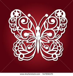 Decorative butterfly for laser cutting.
