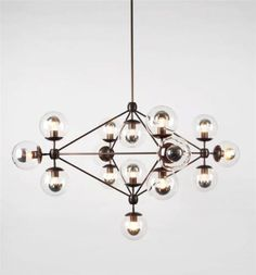 1x-Modo-Round-Ball-Chandelier-Ling-Room-Ceiling-Pendant-Lights-w-5-10-15-Globes
