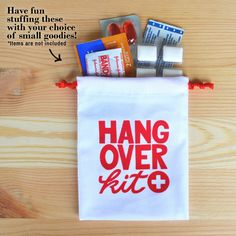 Hangover kit bag, hangover kit, wedding favor, bachelorette party, wedding reception
