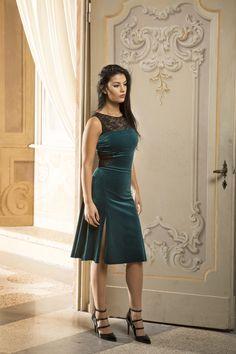 Cremona tango dress in velvet