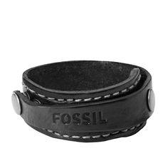 Fossil Cuff Bracelet - Black