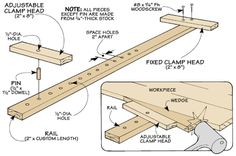 There are times when you just don't have enough clamps. But don't worry – you don't have to blow your budget on new ones. Here's an easy-to-build clamp that will work great for most projects. What's unique about these clamps is how the pressure is applied. Instead of tightening a...
