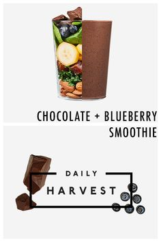 Chocolate lovers, here's a way to have dessert for breakfast, totally guilt-free. This Chocolate + Blueberry Smoothie with maca from Daily Harvest will leave you satisfied and nourished. Simply choose it as one of your Daily Harvest flavors. We'll deliver it and 11 other ready-to-blend smoothies to your door. Then, blend it and enjoy! Sign up for your flexible weekly or monthly subscription today.