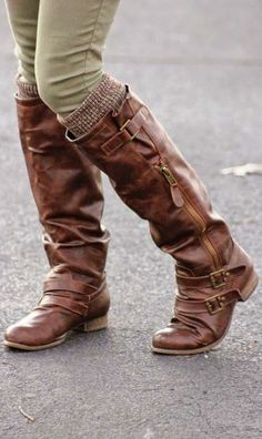 Leather Long Boots and Warmers