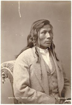 Running Face (the son of Red Buffalo Cow) Ancestor of Cedric Red Feather Mandan - 1874