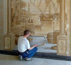 Look! Trompe-l'œil Wall Mural