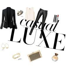 Noir & Gold Casual Luxe