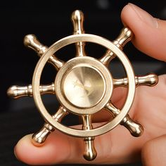 8 Style Pirates of the Caribbean Spinner Gold 3D Heavy Quiet Metal Wheel Anti Stress Tri-Spinner Fidget Spiner Hand SpinnerToys
