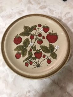 "Set Of 5 Vintage Country Int'l Japan Strawberry Patch Stoneware 10.25"" Plates | Pottery & Glass, Pottery & China, China & Dinnerware | eBay!"
