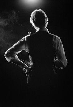 "night-spell: "" David Bowie by Andrew Kent © 1976 | billboard.com """