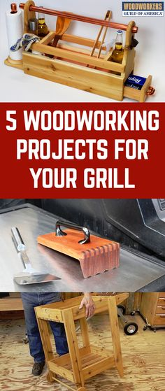 Nothing says summer like grilling. As the smell of sizzling steaks and burgers fills the air, you might start thinking about how you can up your grilling game this season. We've got a variety of woodworking ideas to prepare you for your next barbeque and impress your guests.