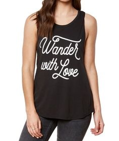 """Live a life of love and happiness in our trendy yoga inspired """"Wander with Love"""" Muscle Tank Top by Spiritual Gangster. Love In Cursive, Muscle Tank Tops, Spiritual Gangster, Yoga Inspiration, Vintage Black, Cotton, Clothes, Women, Style"""