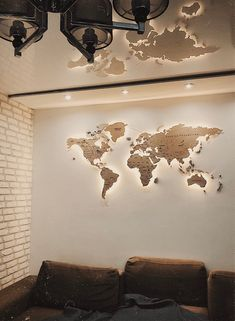 Light Wood Wall Map of the World Map Wall Art Large Travel LED   Etsy
