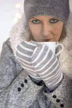 "dress-this-way: "" Winter Style File "" Winter Day, Winter Christmas, Cozy Winter, Mitten Gloves, Mittens, Seasons Poem, Alter Pullover, Touch Of Gray, Grey Outfit"