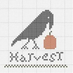 Free primitive crow Cross Stitch Patterns | http cashstrappedcrafting blogspot com 2009 07 harvest crow cross ...