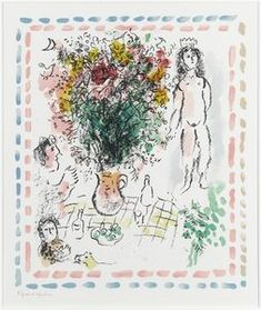 The bouquet of Queen - (Marc Chagall)