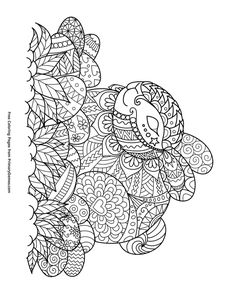 Easter Coloring Pages EBook Zentangle Bunny And Eggs