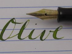 How to Use Flex Nibs - Vintage Fountain Pens, Flexible Nibs, Super ...