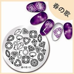 Born Pretty 55cm Round Nail Art Stamp Template Shining Diamond Design Image Plate 02 * You can find out more details at the link of the image.(It is Amazon affiliate link) #comment
