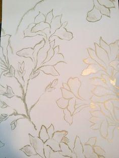 magnolia tree in alabaster wallpaper - Designer's Guild.