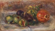 Pomegranate and Figs (Grenade et figues) - Pierre-Auguste Renoir. 1917 Barnes Foundation, Philadelphia PA #vanGogh #barnesmuseum