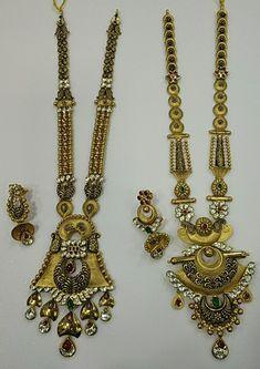 Antique Jewellery Designs, Fancy Jewellery, Gold Jewellery Design, Antique Jewelry, Ear Jewelry, Cute Jewelry, Gold Jewelry, Fashion Necklace, Fashion Jewelry