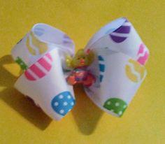 Easter Hair bow, Easter Chick hair bow, Easter bow, Easter Egg Hair Bow, Easter, Happy Easter by BakersgirlBowtique on Etsy