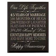 45 jaar getrouwd