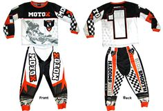 Keep your little moto heads warm and comfy at night in our Moto X 2-Piece Playwear Set! Features flame resistant , breathable, light weight 100% polyester with bold, sublimated printing to prevent fading or flaking during washing. Hi-memory cuffs and waistband help keep them in place during those long motos around the family room. Just $34.95. Order here! http://www.smoothindustries.com/detail.asp?PRODUCT_ID=2805-204