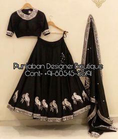Buy New Latest Women (लहंगा) Lehenga Choli Designs 2020 Indian Gowns Dresses, Indian Fashion Dresses, Indian Designer Outfits, Indian Outfits, Latest Fashion Dresses, Fashion Outfits, Black Lehenga, Indian Lehenga, Bollywood Lehenga