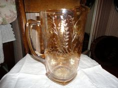 Vintage Jeanette Etched Carnival Glass Floragold by TammysFindings, $48.00