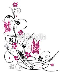 Home Decorating Style 2020 for Papillon Arabesque Dessin, you can see Papillon Arabesque Dessin and more pictures for Home Interior Designing 2020 at Coloriage Kids. Rose Tattoos, Flower Tattoos, Body Art Tattoos, Tatoos, Dark Art Drawings, Tattoo Drawings, Art Floral, Butterfly Art, Flower Art