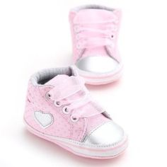 c7a93ac291a Newborn Infant Baby Girls Polka Dots Heart Autumn Lace-Up First Walkers Shoes  Baby