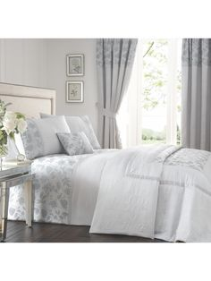 Jeff Banks Ports Of Call Presents The Botanical Duvet Set With Its Delicate Etched Design In