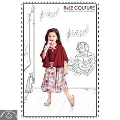 The ROSE COUTURE MAROON SKIRT TOP SET is a must-buy summer outfit for your little girl due to its adorable print. The top of the set is in maroon color that has sweetheart neckline, umbrella sleeves, and plain semblance on its entire bodice. Baby Clothes Sale, Summer Clothes, Maroon Skirt, Kids Outfits, Summer Outfits, Bodice, Neckline, Skirt And Top Set, Maroon Color
