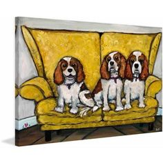 Marmont Hill The Girls by Tori Campisi Painting Print on Canvas, Size: 36 inch x 24 inch, Multicolor