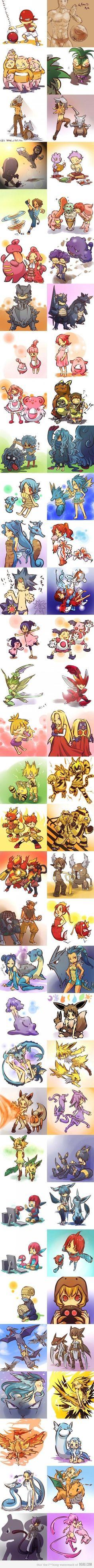 so nice.......seeing pokemons turn into humans