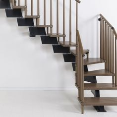 Genius Modular Stairs - Metal, Steel and Wood Spiral Staircase - Fontanot