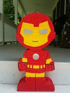 Super hero birthday party super hero pinata iron man by LaAranita
