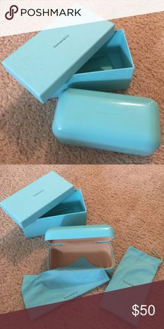 Tiffany & Co glasses case items included are the actual case, cleaning cloth, and the cloth case. Tiffany & Co. Accessories
