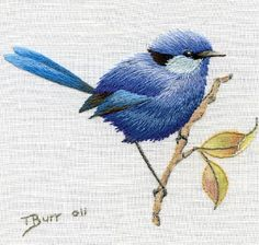 Beating Around the Bush, 2012, by Country Bumpkin -      Thread painting is so amazing.
