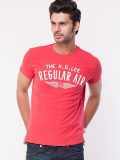 Lee Text Print T-Shirt on koovs Mens Tee Shirts, T Shirt, Tops, Fashion, T Shirts, Supreme T Shirt, Moda, Tee, La Mode