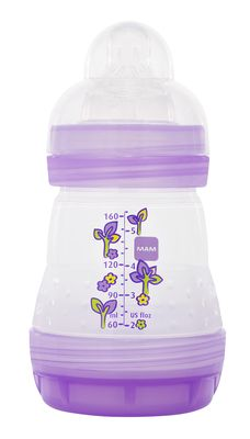 """MAM Bottles are Wonderful!!!! I have used them w/ all 3. I love the way I can take them apart to deep clean them but I don't have to. The measurement lines are easy to see by just a night light and they aren't as expensive as some of the others. I also like that it is so soothing for my kids to have the same nipple on their bottle and pacifier."" -- Lori"