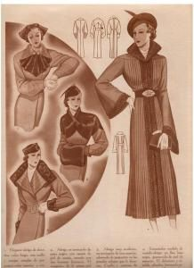 1930s Fashion, Art Deco Fashion, Diy Fashion, Vintage Fashion, Vintage Sewing Patterns, Clothing Patterns, Mode Mantel, Fashion Plates, Vintage Outfits