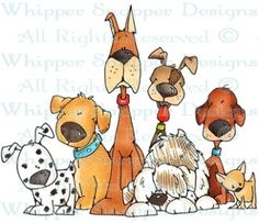 Puppy Chow - Dogs - Animals - Rubber Stamps - Shop