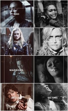 I don't have an idea for description, but I can say that I truly forgot about Octavia  - The 100 - Lexa - Bellamy Blake - Clarke Griffin - Raven Reyes