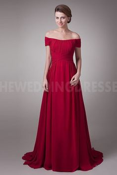 Off Shoulder Luxury red Mother Of Bride Dresses - Order Link: http://www.theweddingdresses.com/off-shoulder-luxury-red-mother-of-bride-dresses-twdn4981.html - Embellishments: Beading; Length: Floor Length; Fabric: Chiffon; Waist: Natural - Price: 164.6079USD